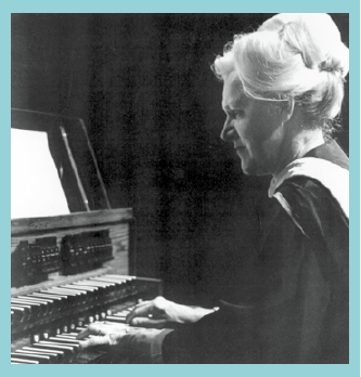Kathryn Ulvilden Moen playing the organ.