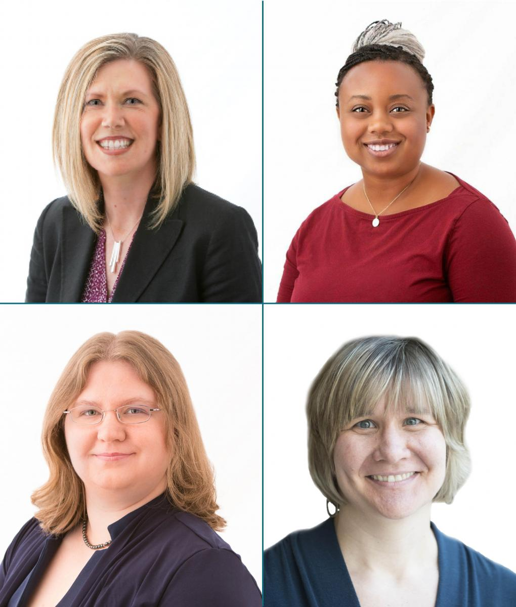 Images of staff members on the Donor Services & Grants team.