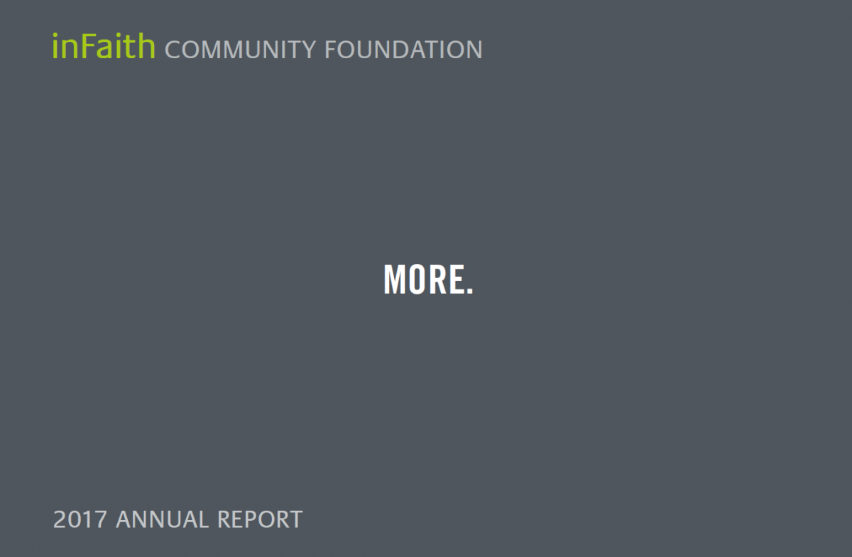 Image of the 2017 annual report cover.
